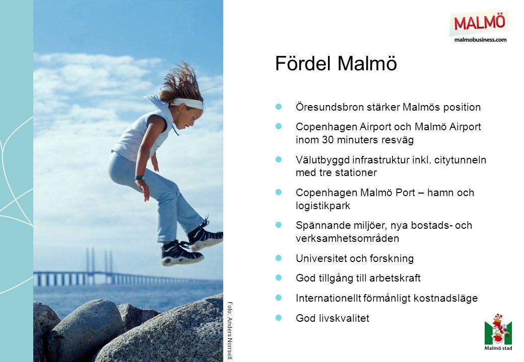 Fördel Malmö Öresundsbron stärker Malmös position