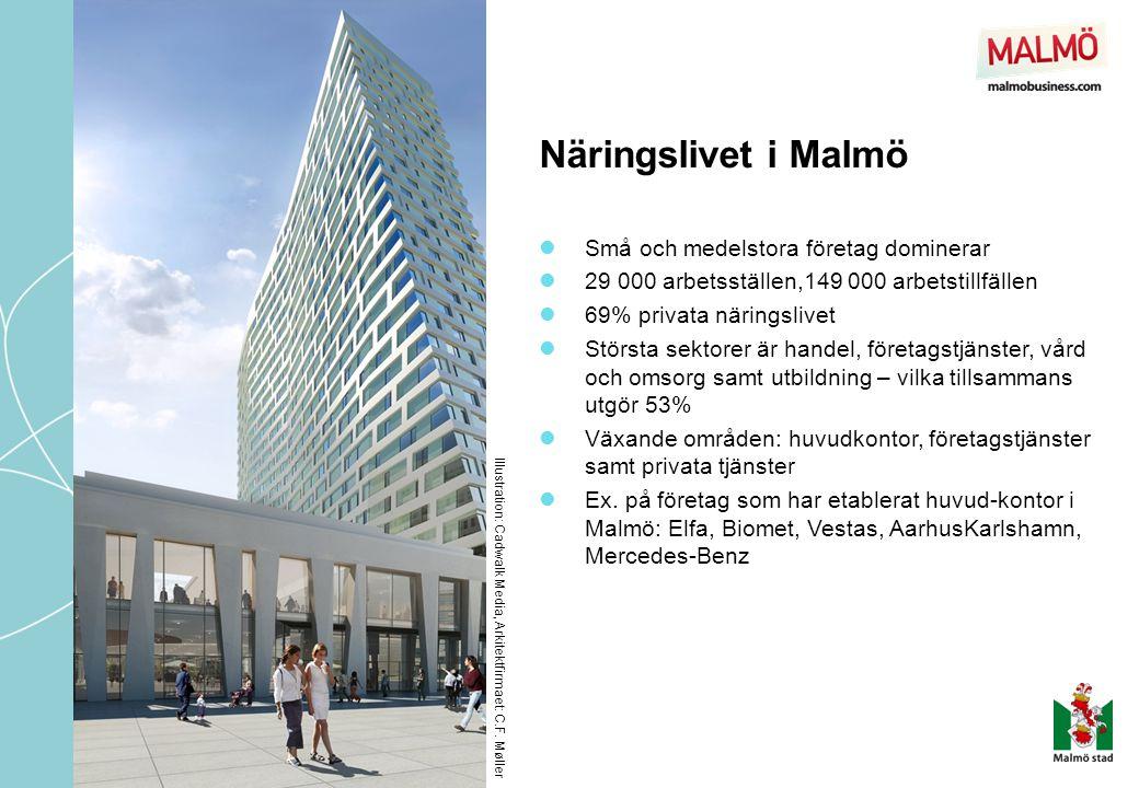 Näringslivet i Malmö Små och medelstora företag dominerar