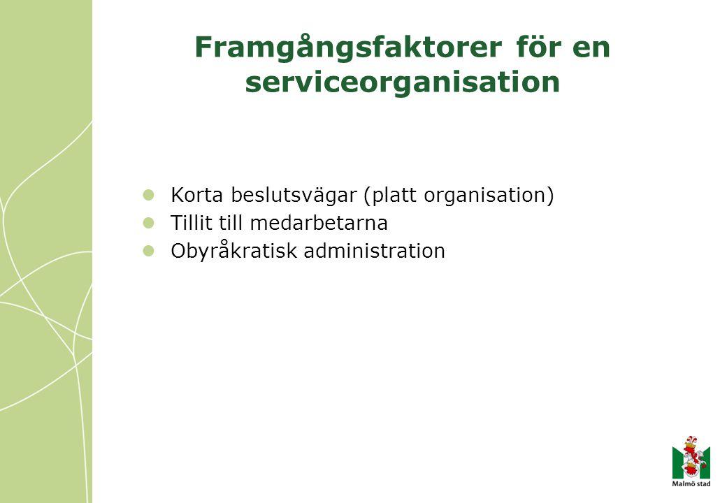Framgångsfaktorer för en serviceorganisation