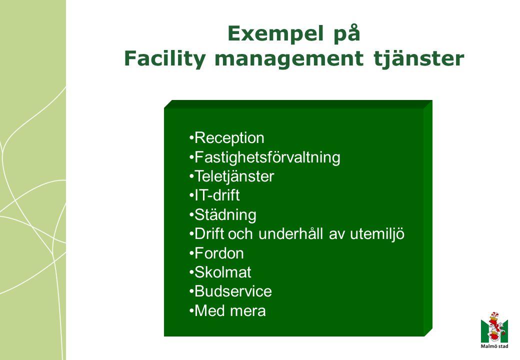 Exempel på Facility management tjänster