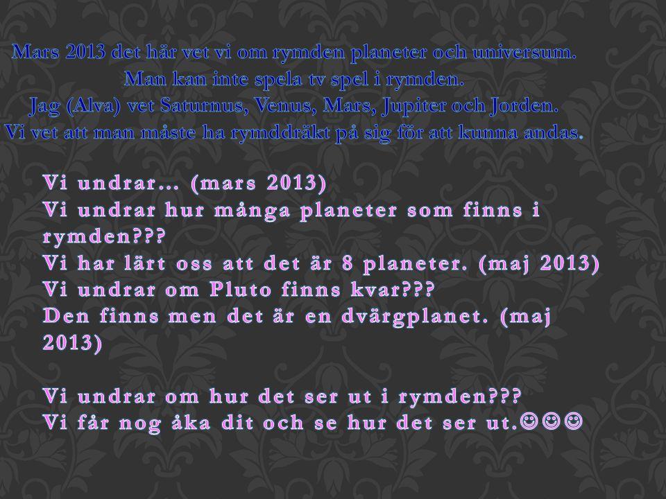 Mars 2013 det här vet vi om rymden planeter och universum.