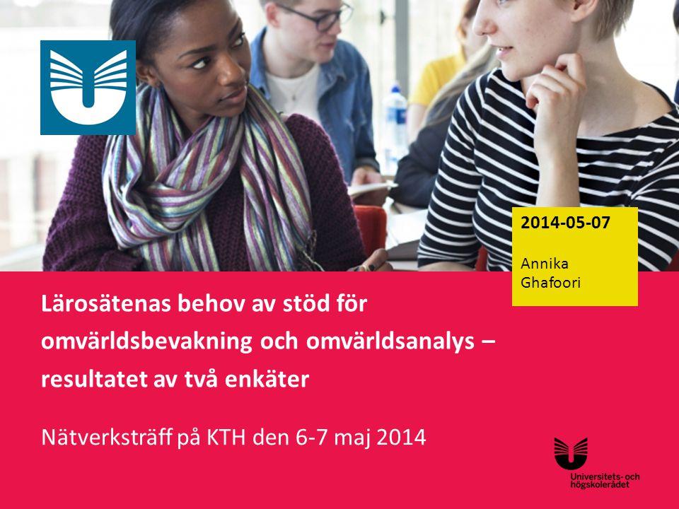 Nätverksträff på KTH den 6-7 maj 2014
