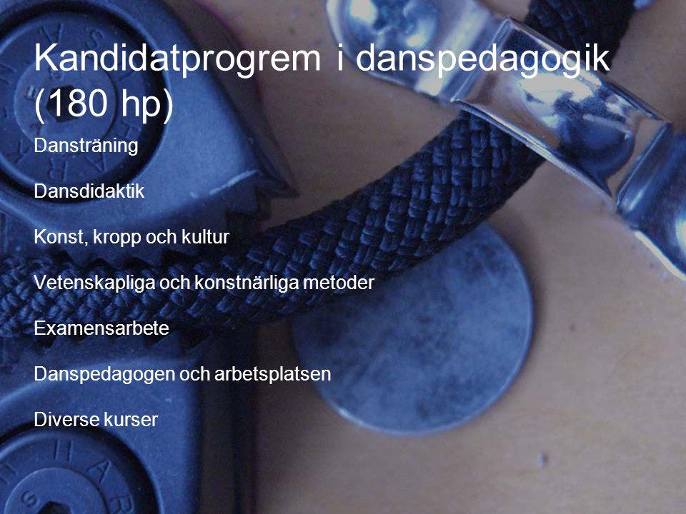Kandidatprogrem i danspedagogik (180 hp)