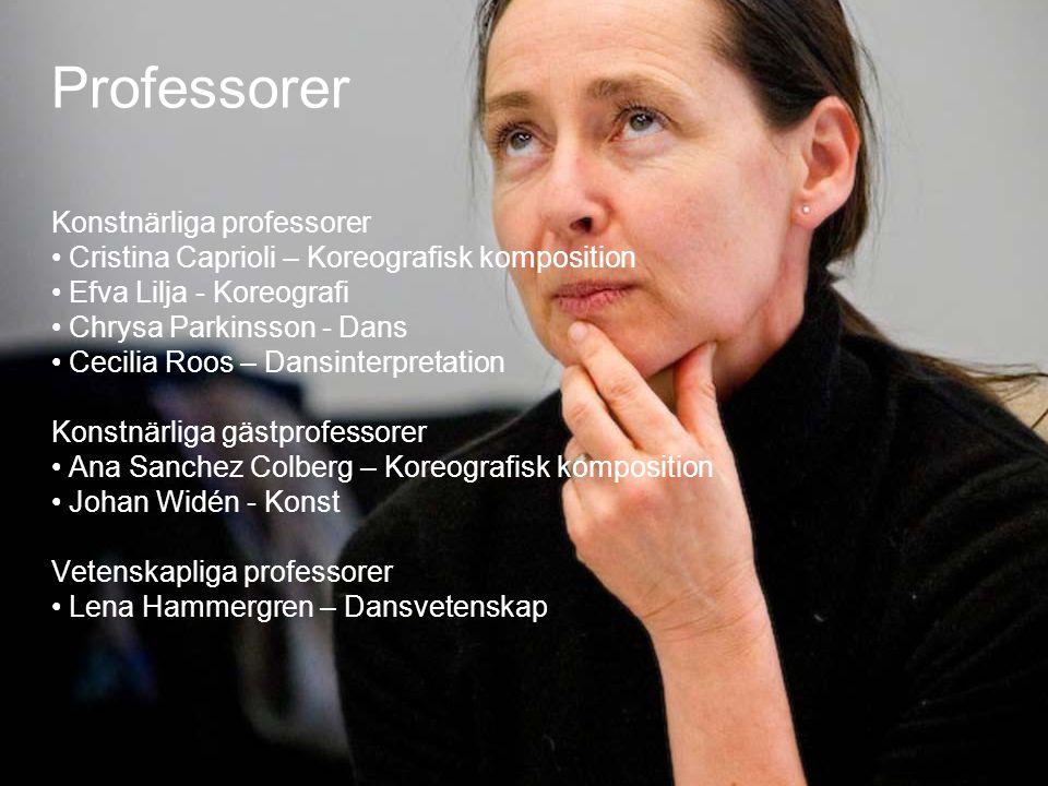 Professorer Konstnärliga professorer