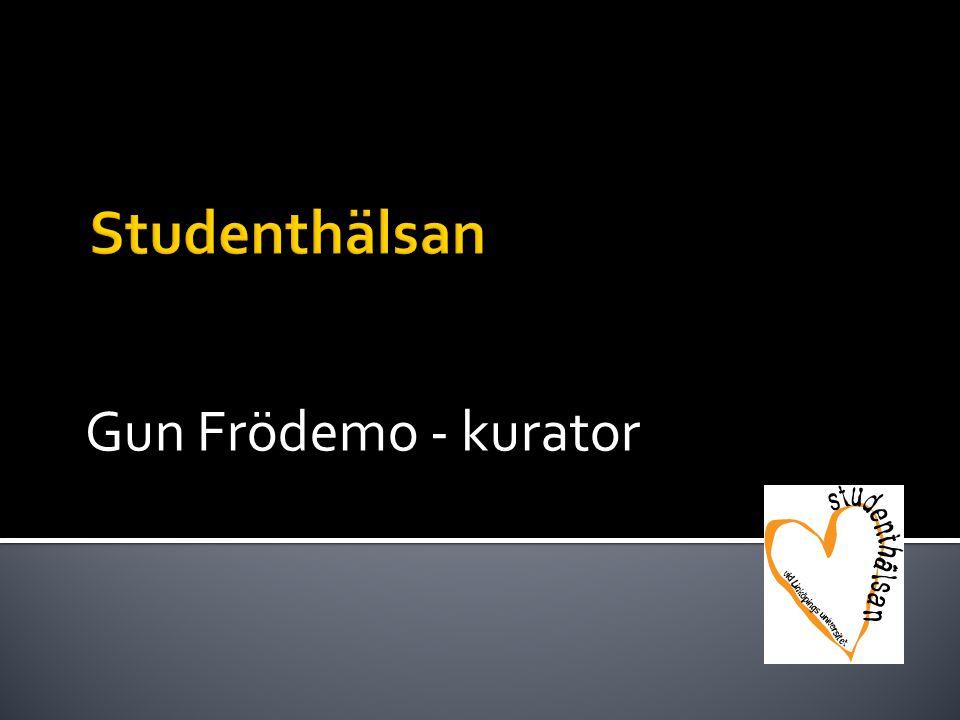 Gun Frödemo - kurator Studenthälsan