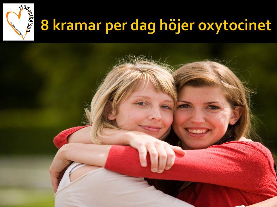 8 kramar per dag höjer oxytocinet