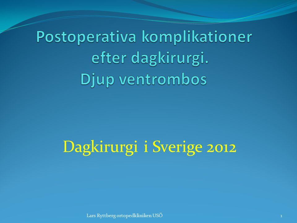 Postoperativa komplikationer efter dagkirurgi. Djup ventrombos