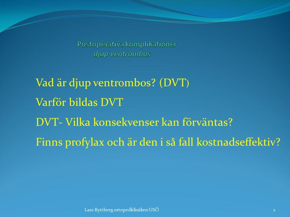Postoperativa komplikationer djup ventrombos