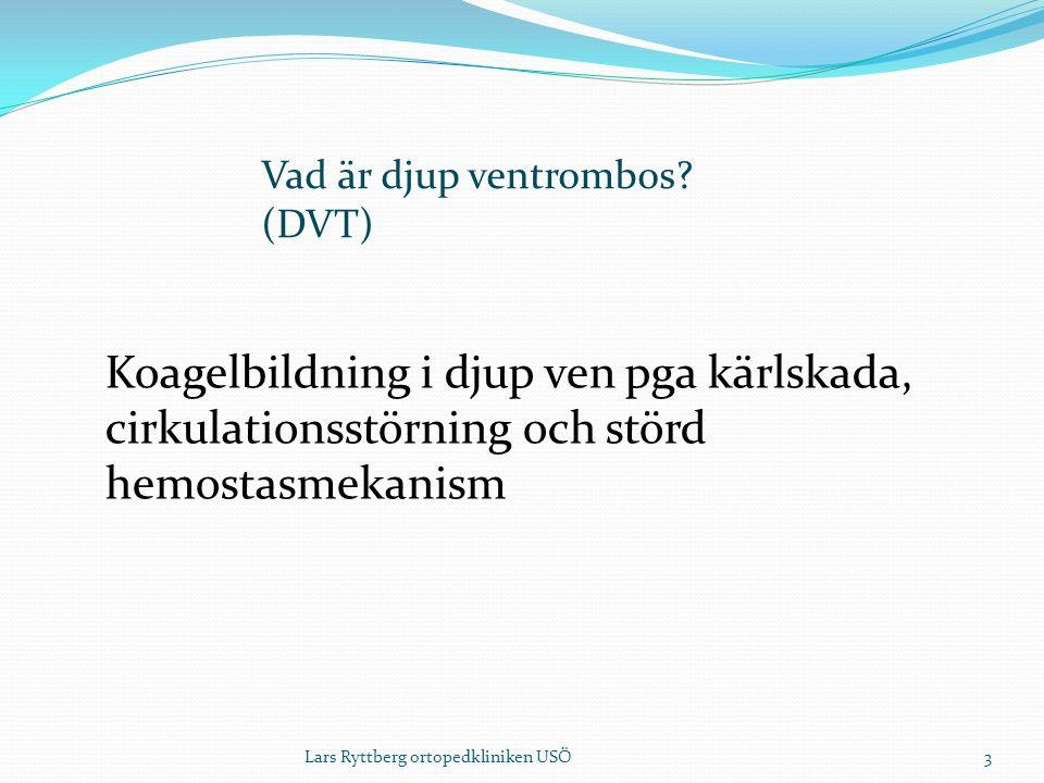 Vad är djup ventrombos (DVT)