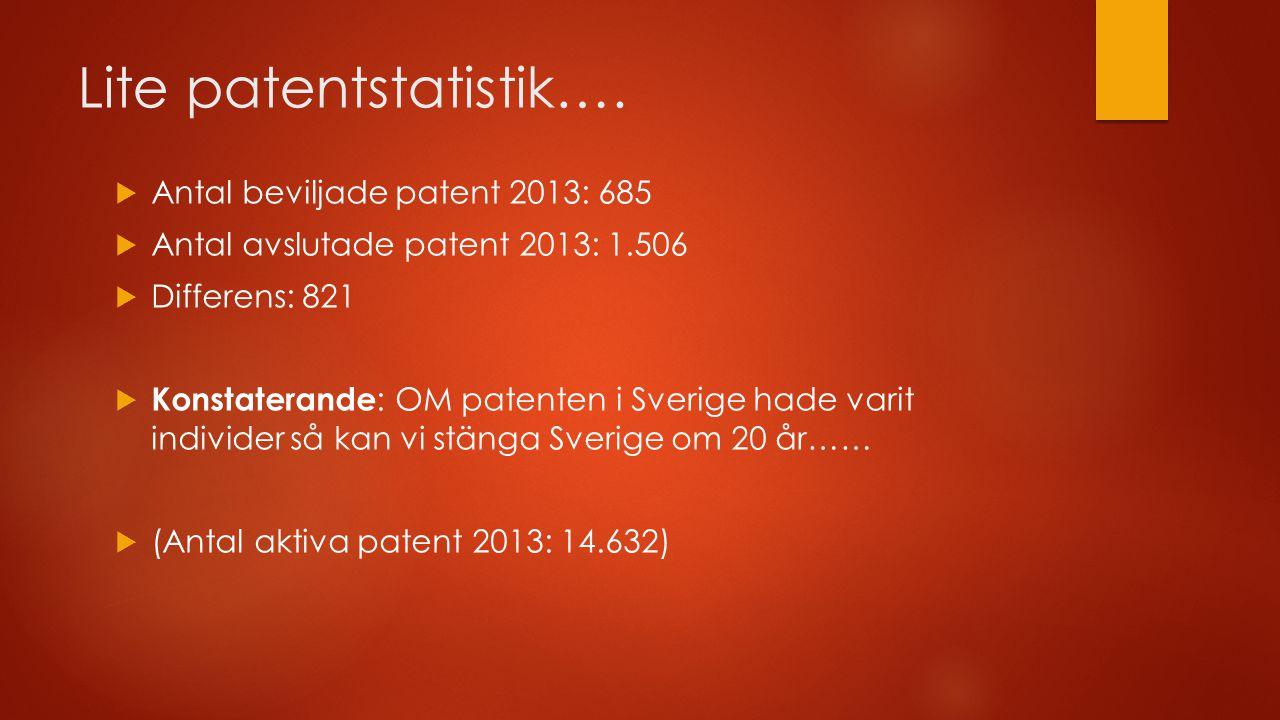 Lite patentstatistik….