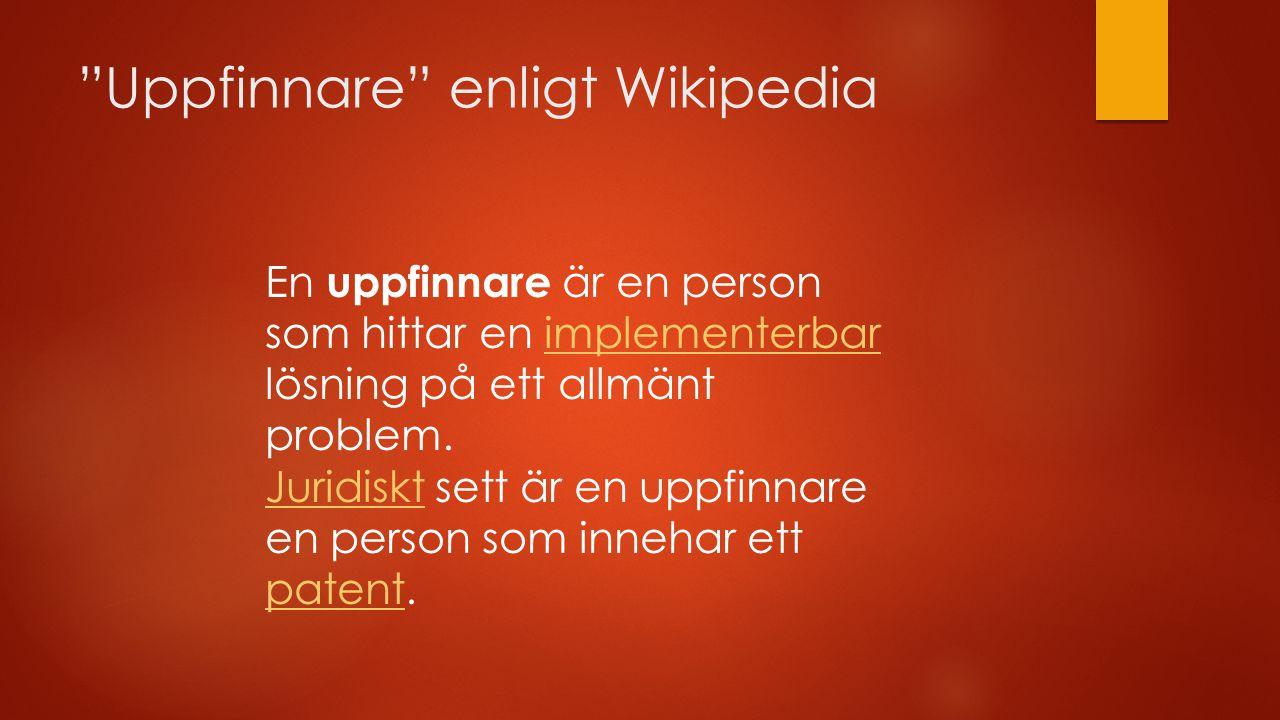Uppfinnare enligt Wikipedia