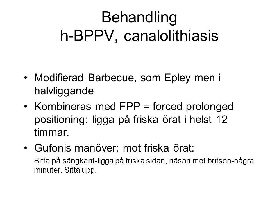 Behandling h-BPPV, canalolithiasis