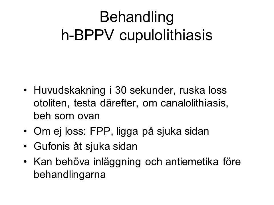Behandling h-BPPV cupulolithiasis