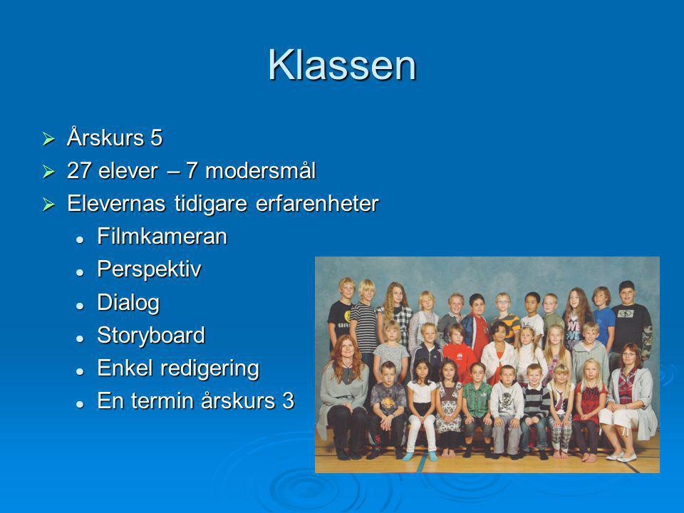 Klassen Årskurs 5 27 elever – 7 modersmål