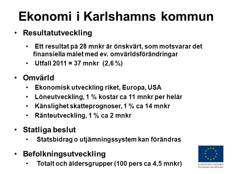 Ekonomi i Karlshamns kommun
