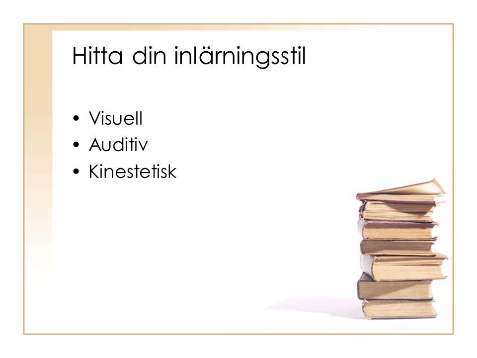 Hitta din inlärningsstil