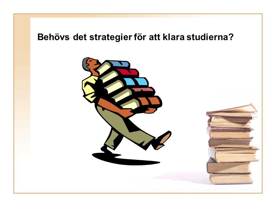 Behövs det strategier för att klara studierna