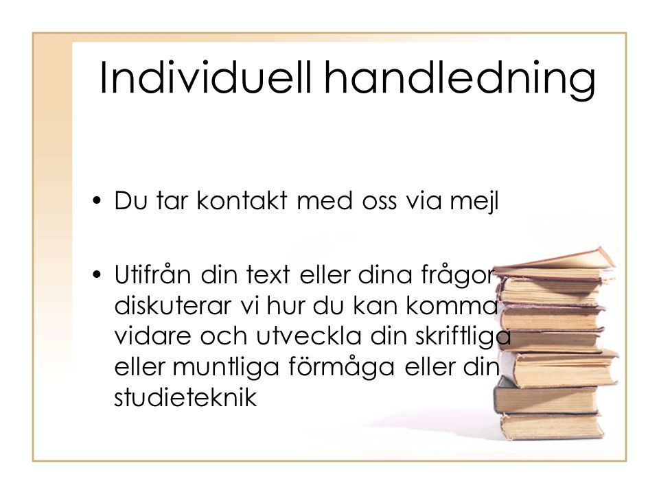 Individuell handledning