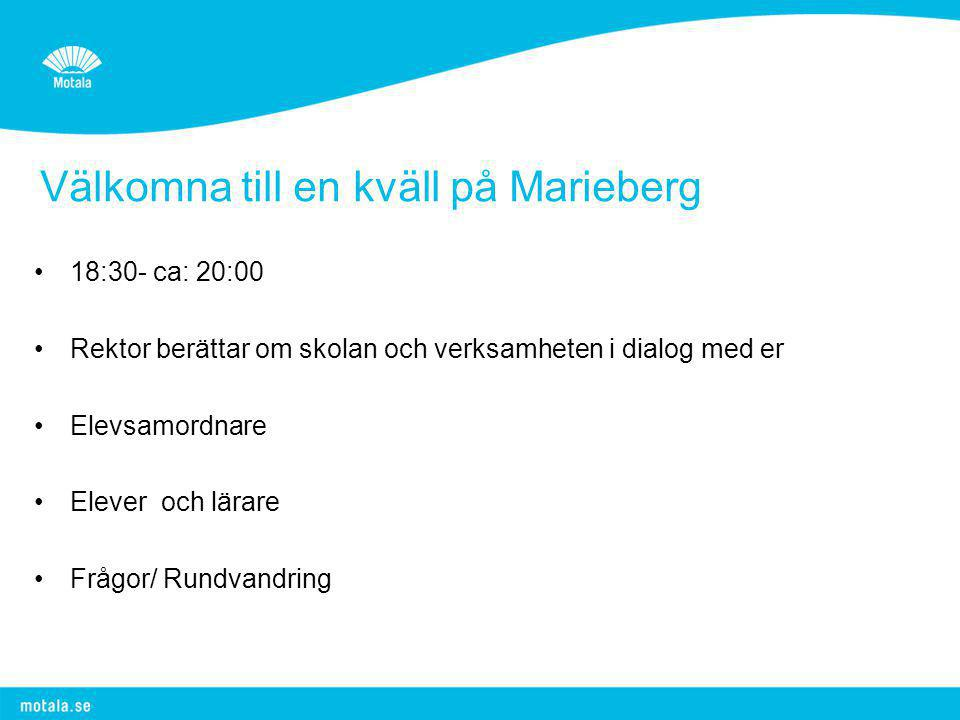 Välkomna till en kväll på Marieberg