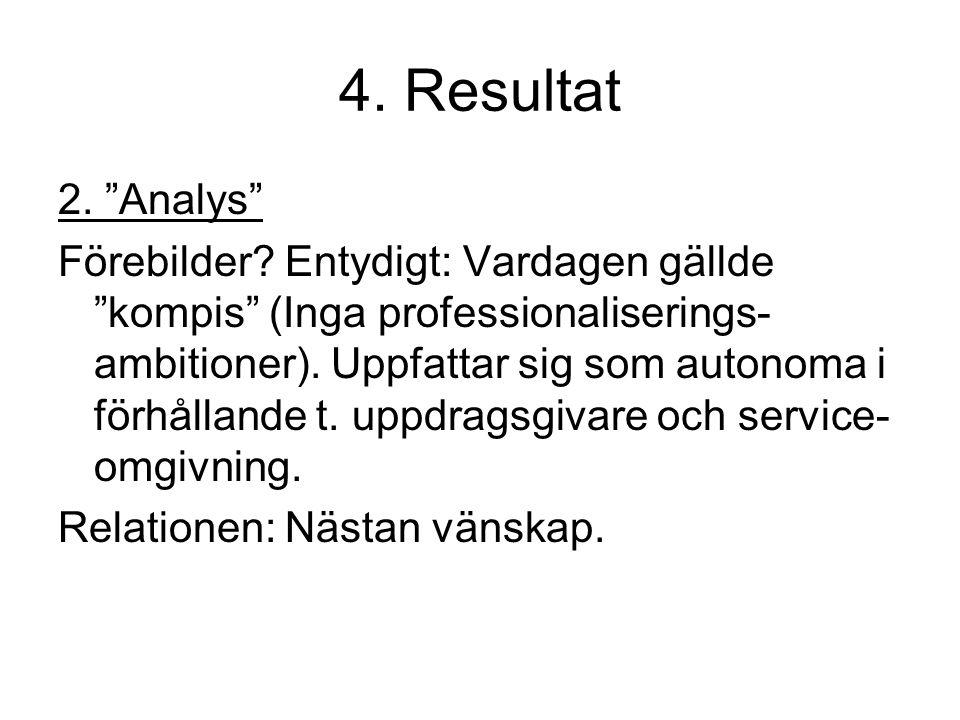 4. Resultat 2. Analys