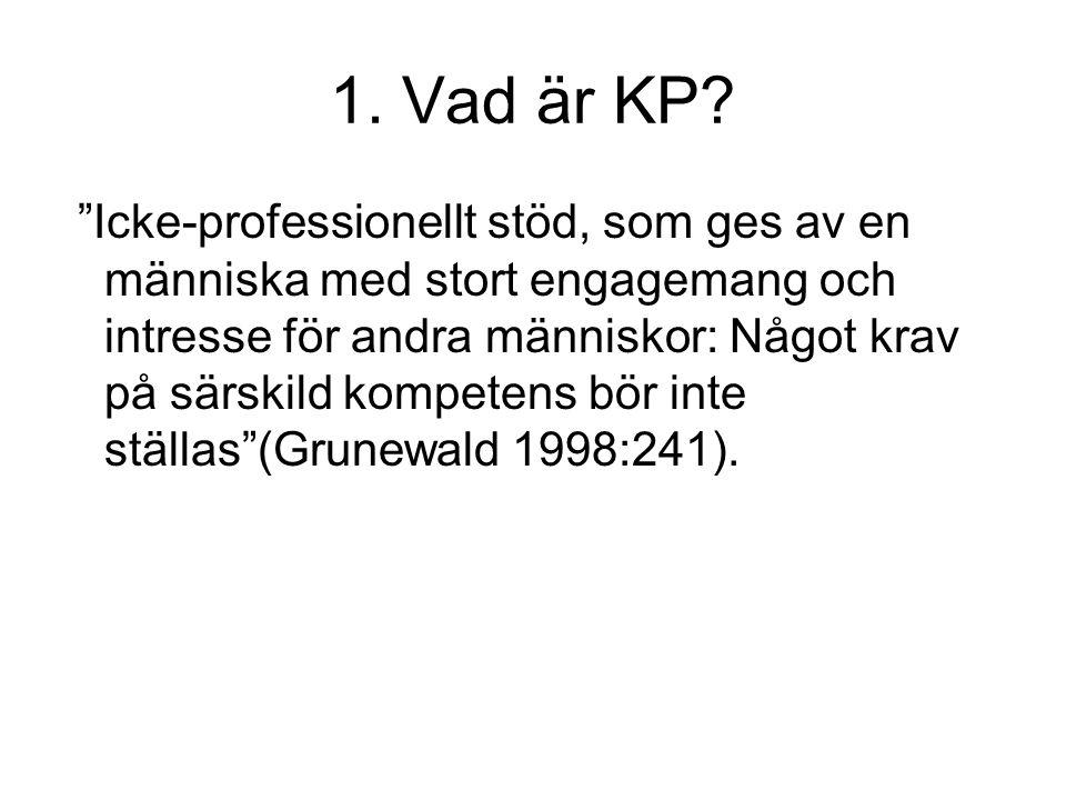 1. Vad är KP