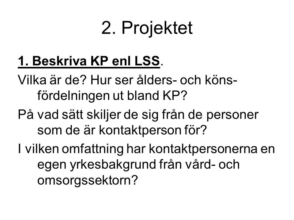 2. Projektet 1. Beskriva KP enl LSS.