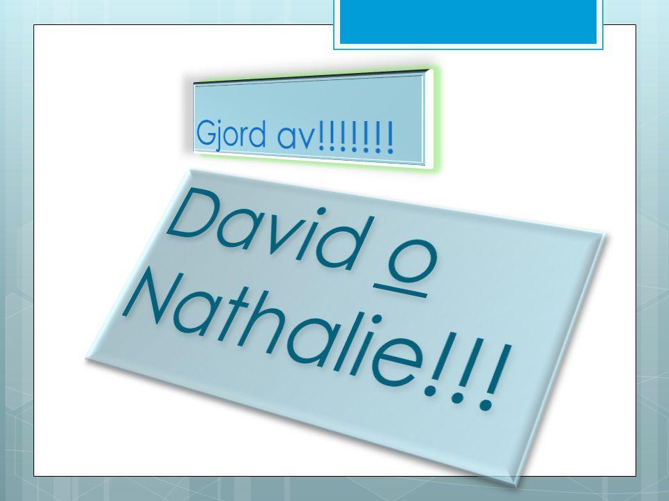 Gjord av!!!!!!! David o Nathalie!!!