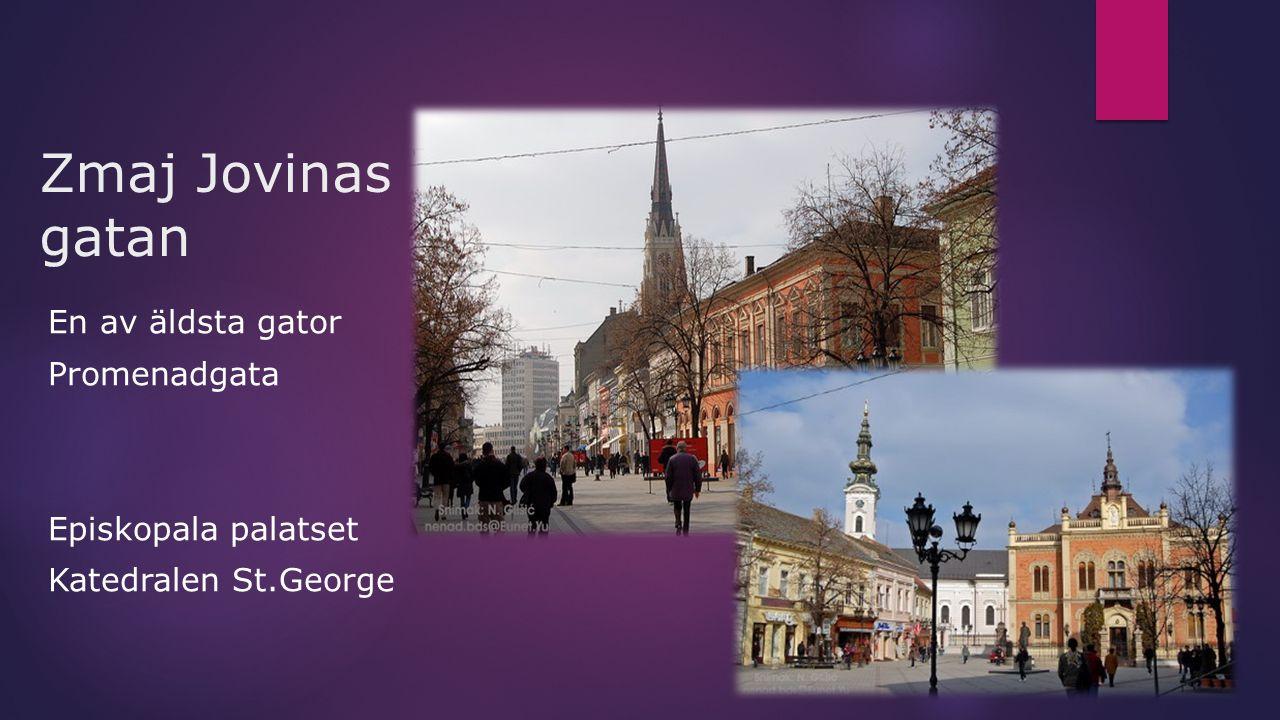 Zmaj Jovinas gatan En av äldsta gator Promenadgata Episkopala palatset