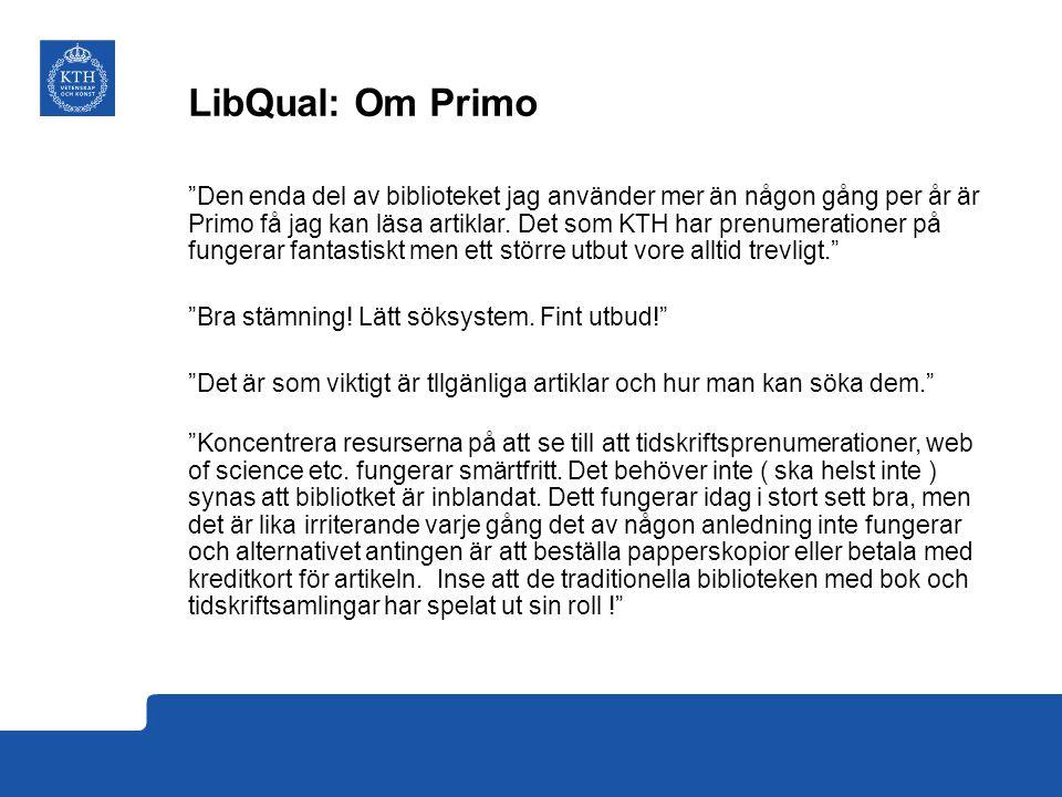 LibQual: Om Primo