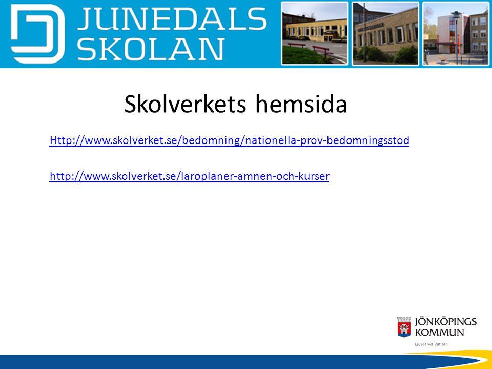 Skolverkets hemsida Http://www.skolverket.se/bedomning/nationella-prov-bedomningsstod.