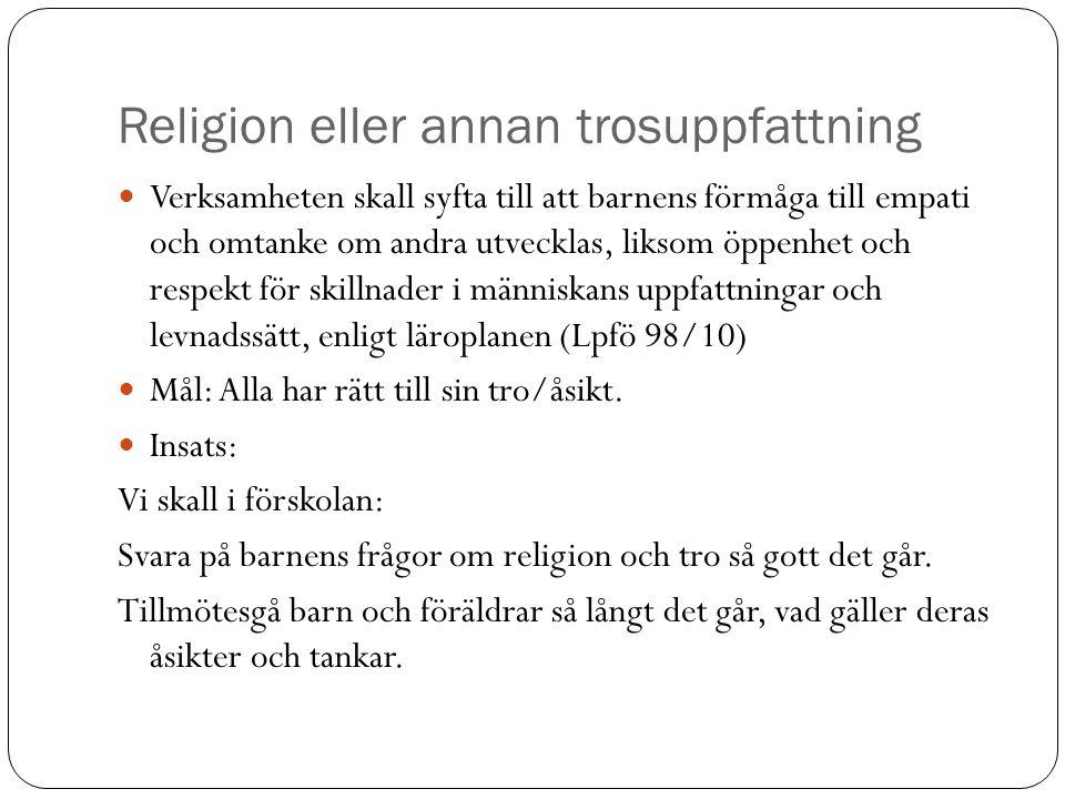 Religion eller annan trosuppfattning