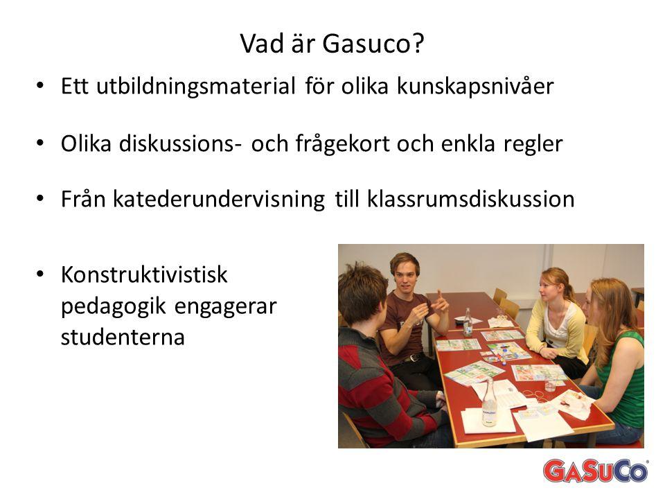 Vad är Gasuco Ett utbildningsmaterial för olika kunskapsnivåer