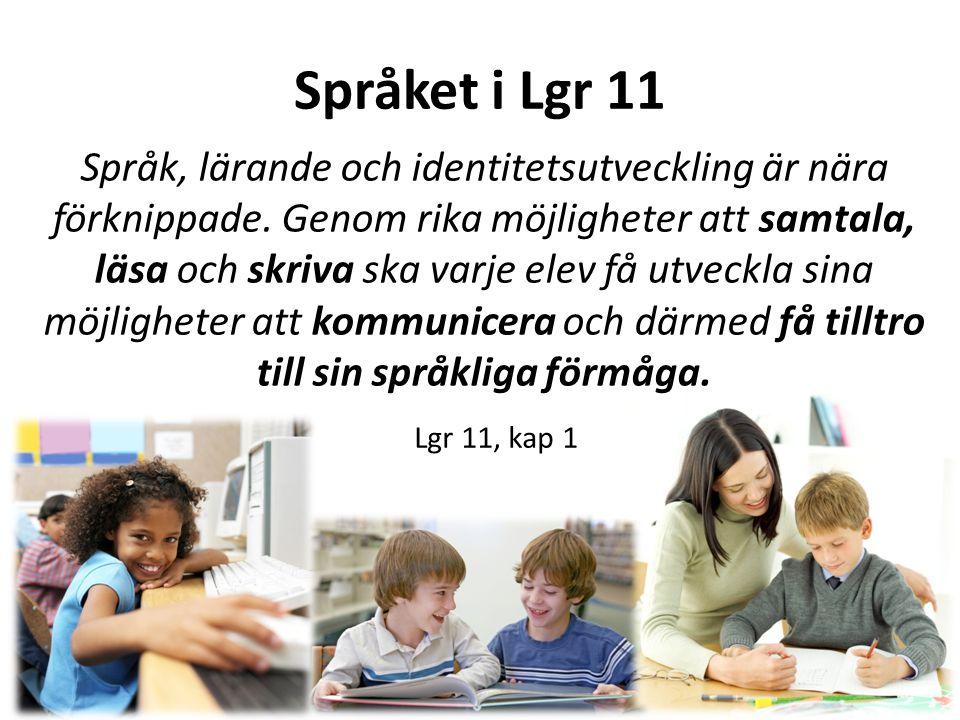 Språket i Lgr 11