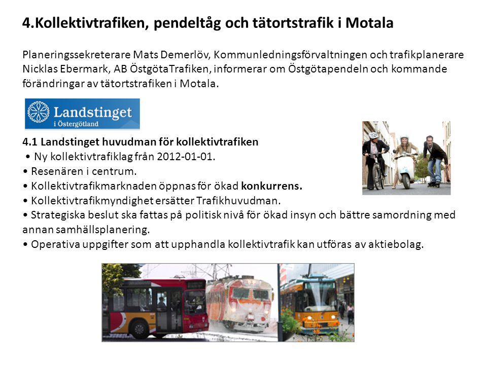 4.Kollektivtrafiken, pendeltåg och tätortstrafik i Motala