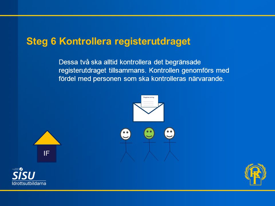 Steg 6 Kontrollera registerutdraget