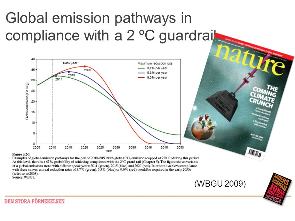 Global emission pathways in compliance with a 2 ºC guardrail