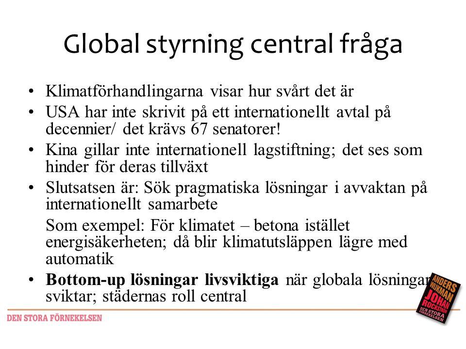 Global styrning central fråga