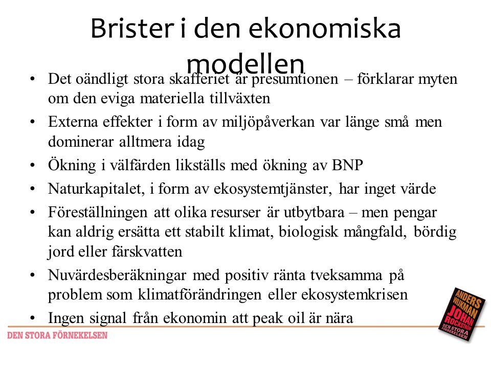 Brister i den ekonomiska modellen