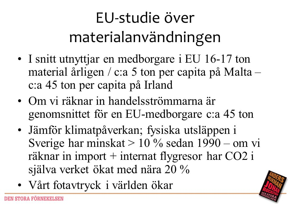 EU-studie över materialanvändningen