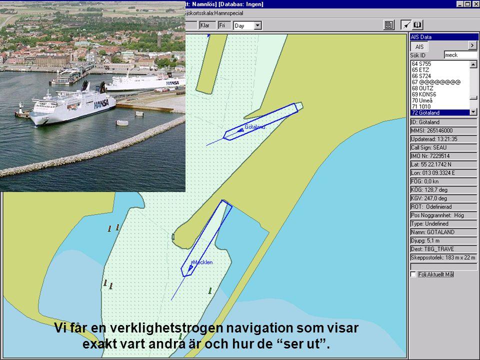 Vi får en verklighetstrogen navigation som visar