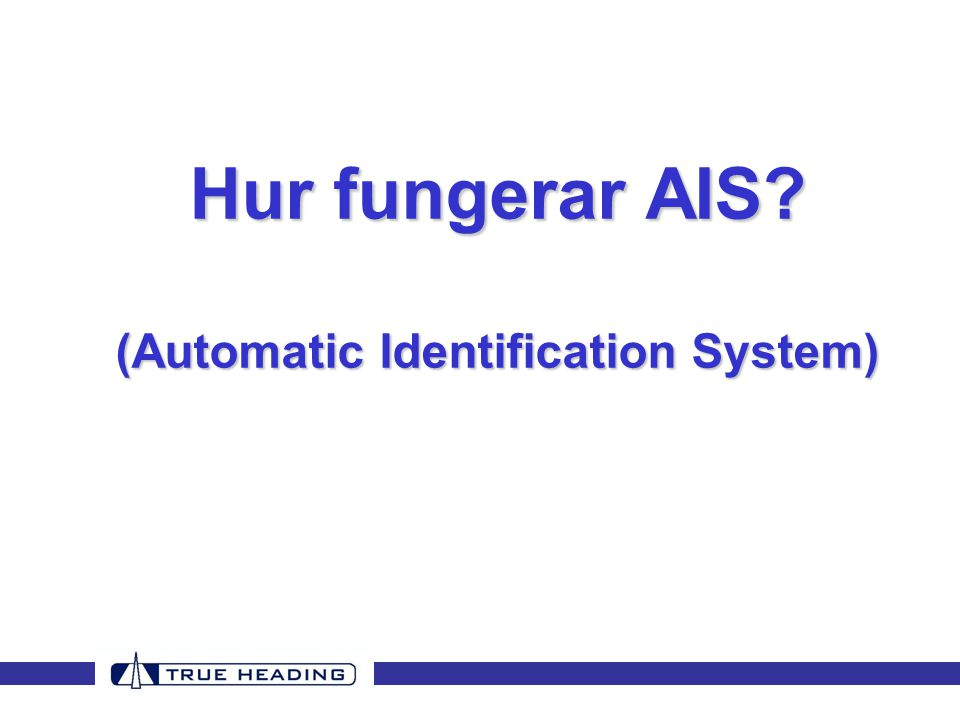 (Automatic Identification System)