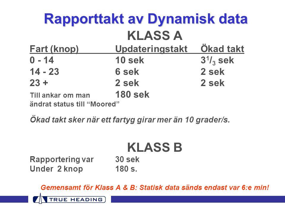 Rapporttakt av Dynamisk data