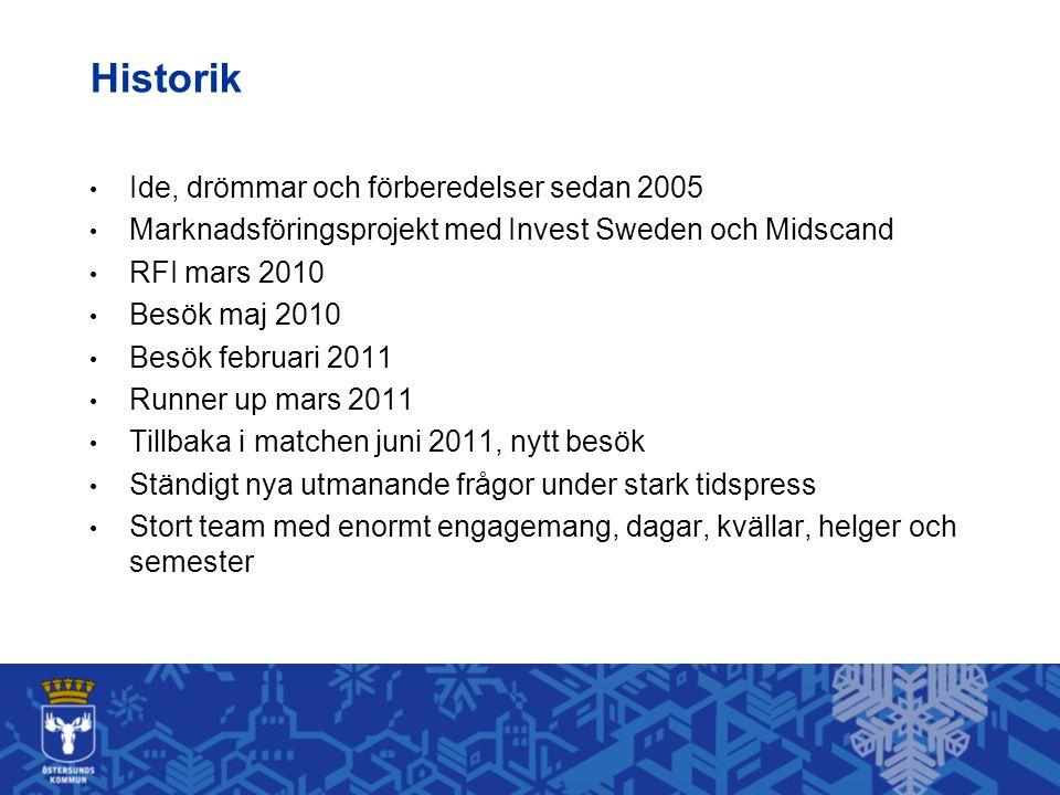 Historik Ide, drömmar och förberedelser sedan 2005
