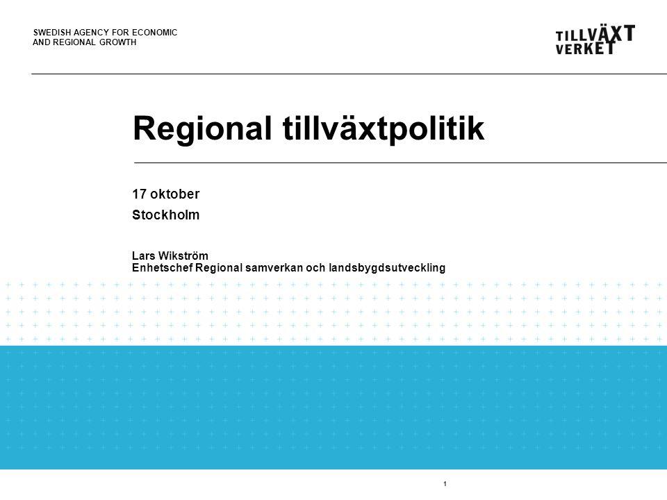 Regional tillväxtpolitik