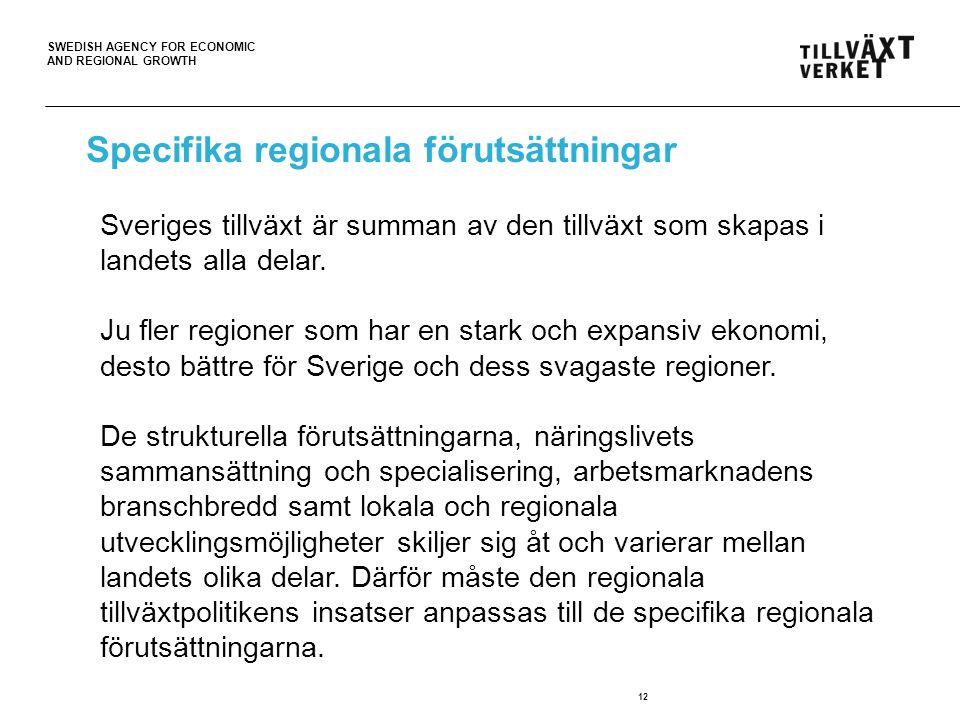Specifika regionala förutsättningar