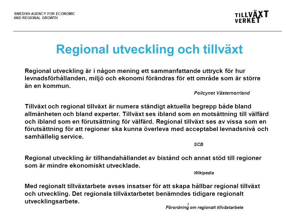 Regional utveckling och tillväxt