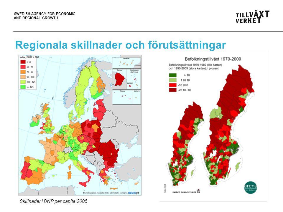 Regionala skillnader och förutsättningar