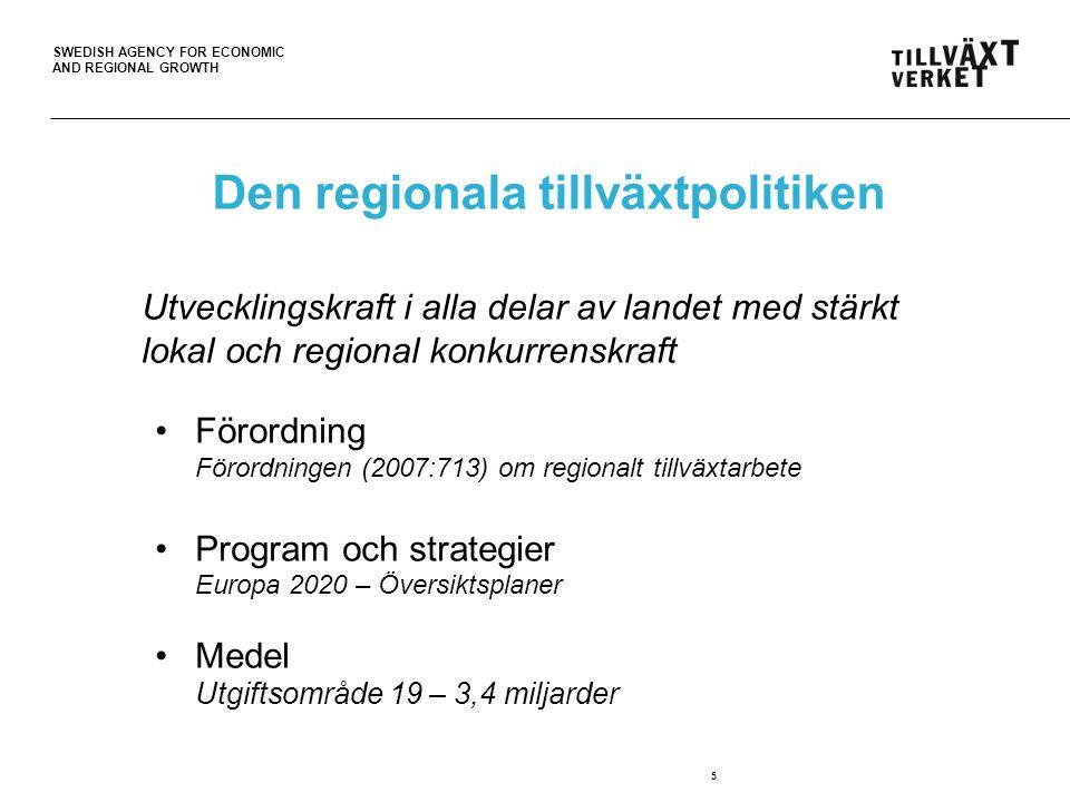 Den regionala tillväxtpolitiken