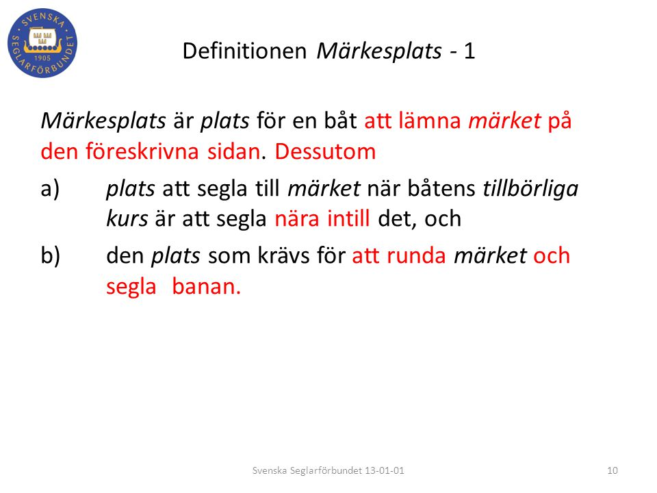 Definitionen Märkesplats - 1