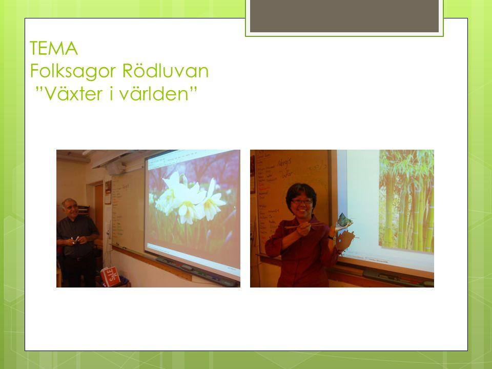 TEMA Folksagor Rödluvan Växter i världen